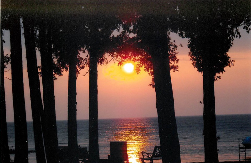 Sunset at The Shallows Resort.