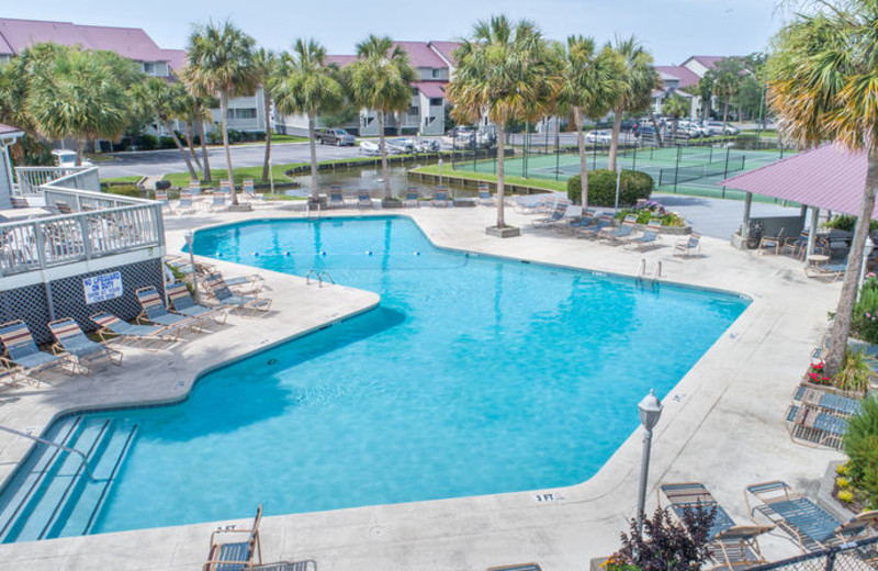 Rental pool at Vacation Rentals Folly Beach.