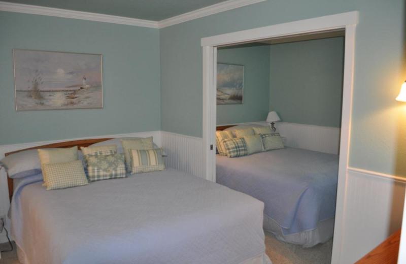 Unit 21 master bedroom at Cavalier Beachfront Condominiums.