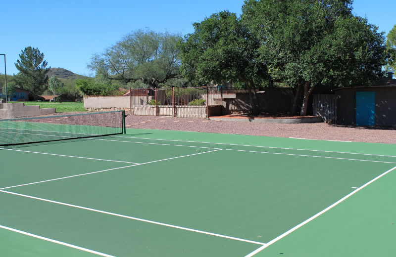 Tennis court at Circle Z Ranch.