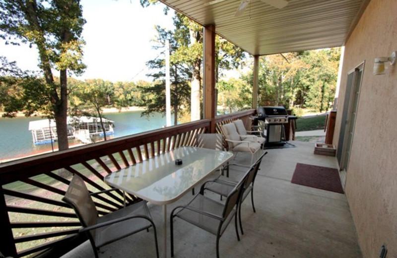 Balcony at Vickery Resort On Table Rock Lake.