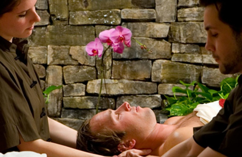 Couples massage at La Tourelle Resort & Spa.