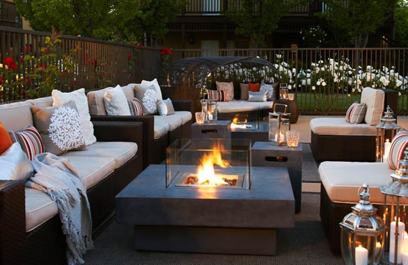 Fire pits at The Lodge at Sonoma Renaissance Resort & Spa.