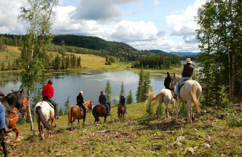 Horseback riding at Crystal Waters Guest Ranch.