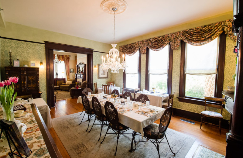 Dining room at The Hoyt House.