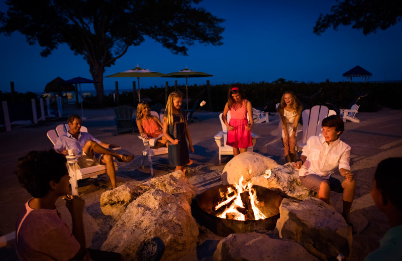 Fire pit at TradeWinds Island Grand.