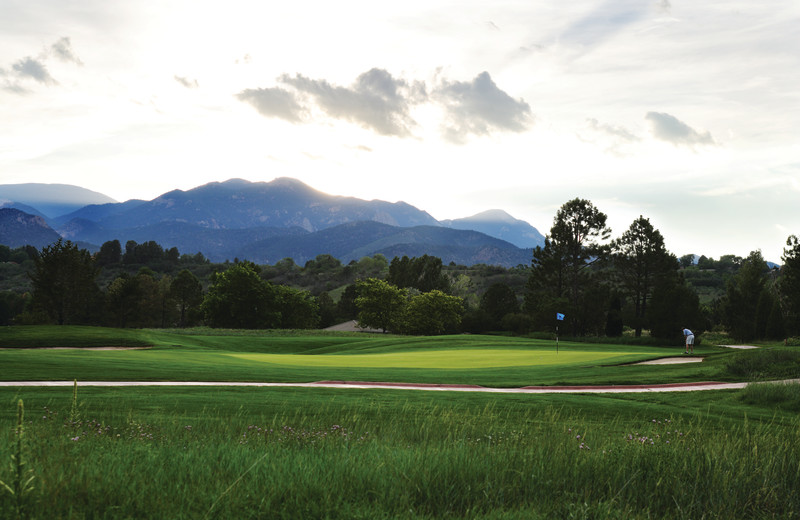 The Pete Dye designed golf course at Cheyenne Mountain Resort sees over 300 days of sunshine a year.