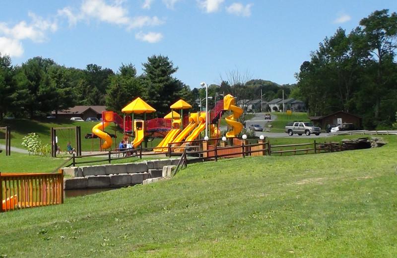 Children's playground at Villa Roma Resort.