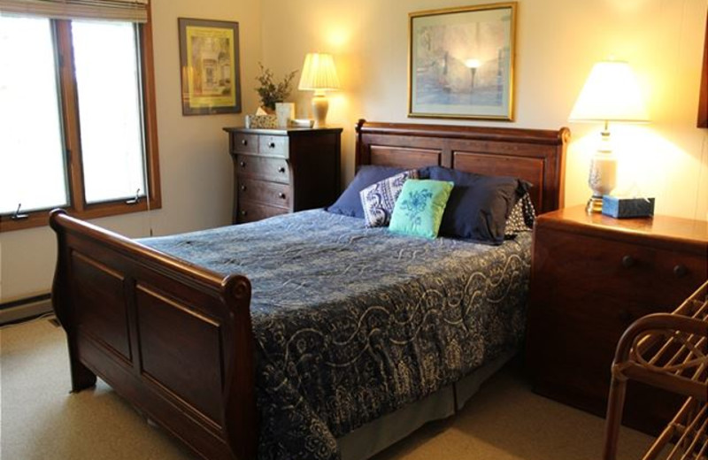Rental bedroom at Mountain Lake Rentals.