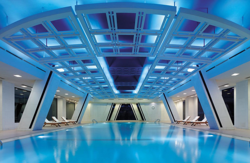 Indoor pool at China World Hotel.