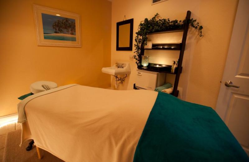 Massage Table in Spa Area at Delton Grand Resort