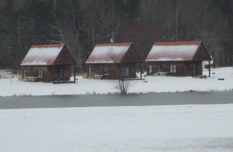 Cabins at Big Buck Resort.