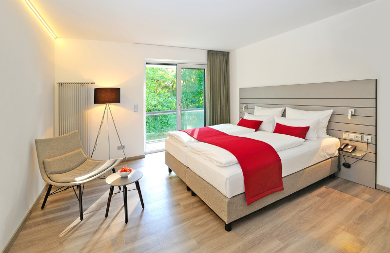 Guest room at Schloss Hotel Monrepos.