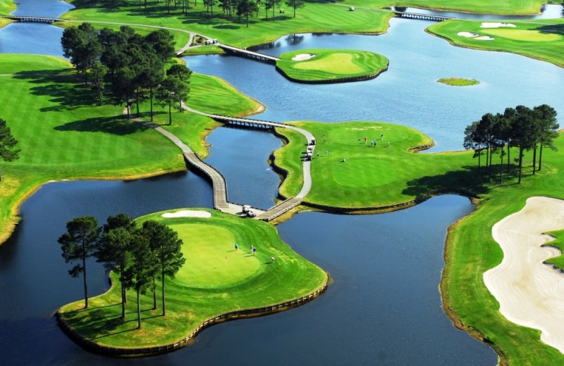 Golf course near at The Breakers Resort.