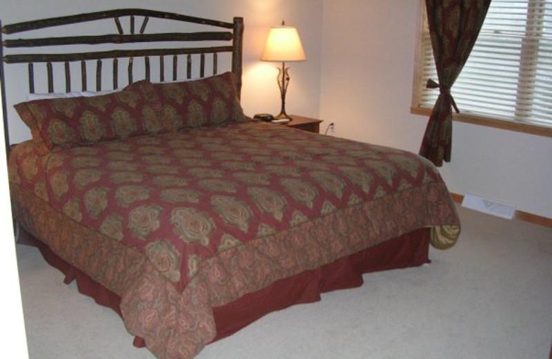Bedroom at Birchwood Lodge.