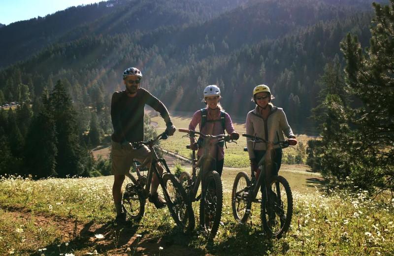Biking at Red Horse Mountain Ranch.