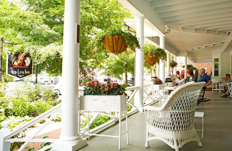 Porch at Red Lion Inn.