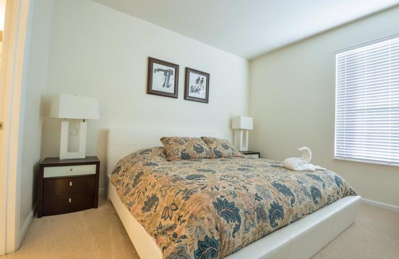 Rental bedroom at Vista Vacation Rentals.
