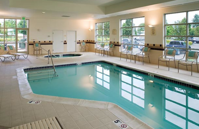 Indoor pool at SpringHill Suites Vancouver Columbia Tech Center.
