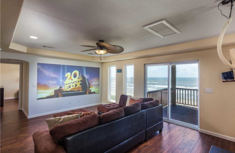 Rental theater at Gary Greene Vacation Rentals.