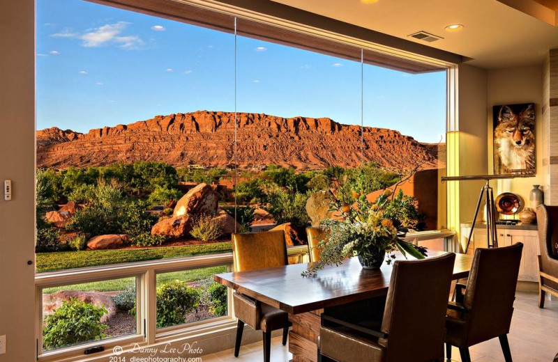Guest suite dining room at The Inn at Entrada.