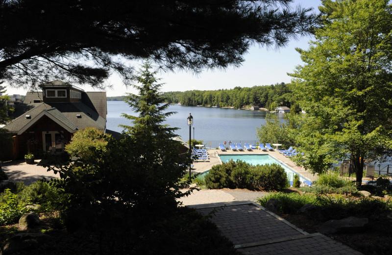 Lake view at Rocky Crest Golf Resort.
