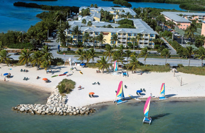 Aerial view of Sheraton Suites Key West.