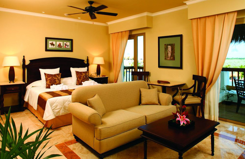 Guest room at Valentin Imperial Riviera Maya.