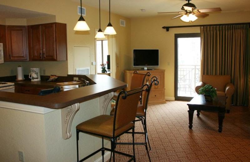 Guest kitchen at Wyndham Bonnet Creek Resort.