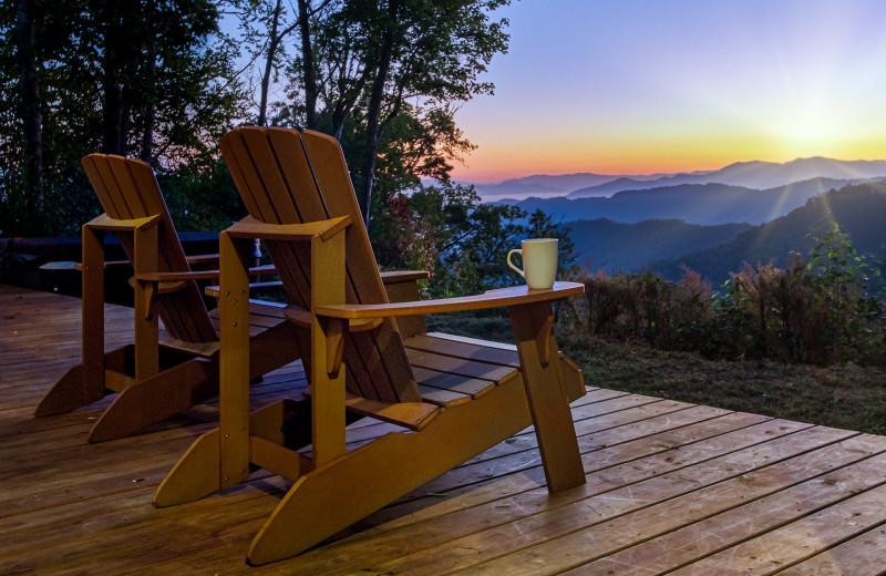 Mountain view at Carolina Vacation Lodging.