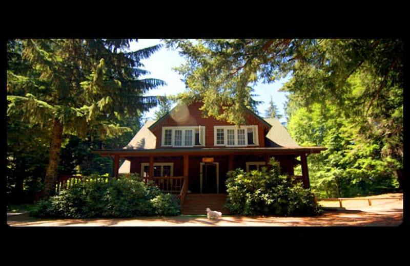 Lodge exterior at Mt. Rainier Lodge.