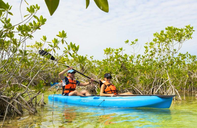 Kayaking at Explorean Kohunlich.