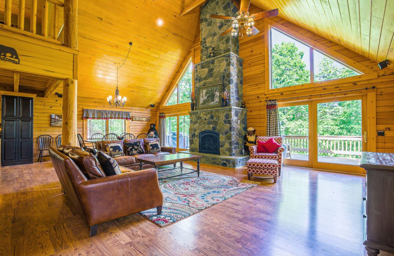 Rental living room at Railey Vacations.