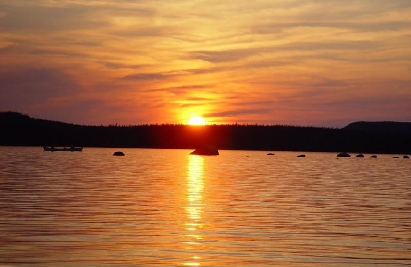 Sunset at Igloo Lake Lodge.
