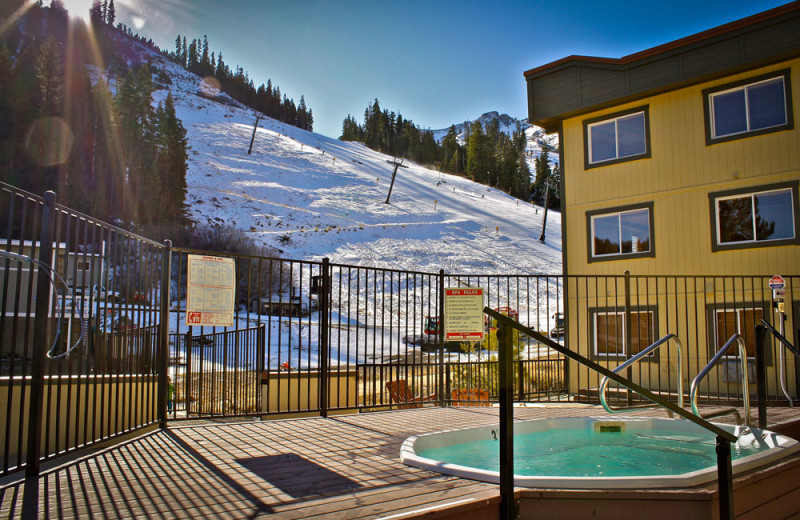 Outdoor Jacuzzi at the Red Wolf Lodge at Squaw Valley