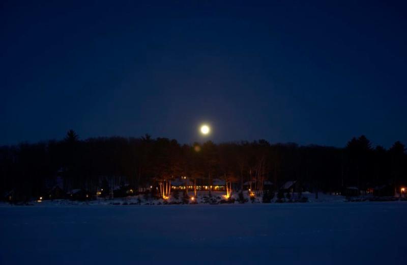 Night view of Pitlik's Sand Beach Resort.