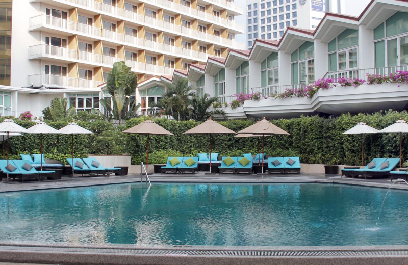 Outdoor pool at The Dusit Thani.