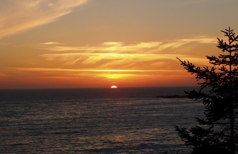 Sunset at Snug Harbour Inn.