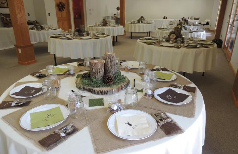 Wedding reception at Harpole's Heartland Lodge.
