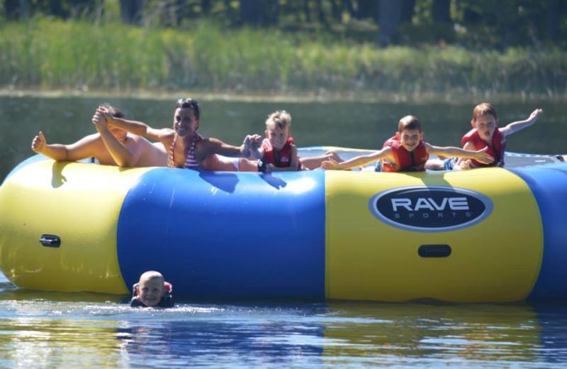 Water activities at Hyde-A-Way Bay Resort.