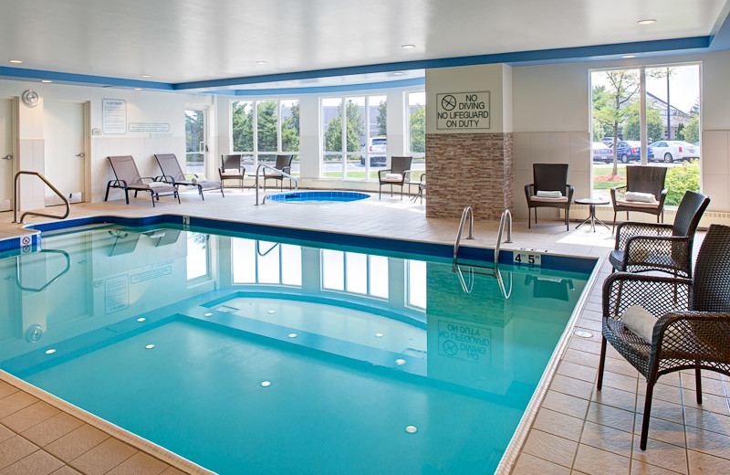 Indoor Pool at the Hilton Garden Inn Toronto/Oakville
