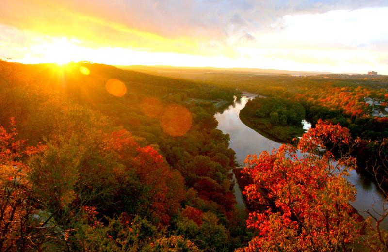 Fall colors at Rockwood Resort.