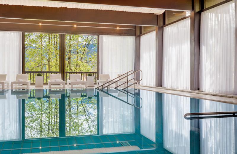 Indoor pool at Grand Hotel Sonnenbichl.