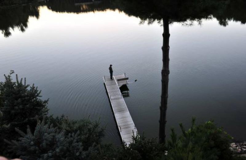 Lake dock at Cliffside Resort.