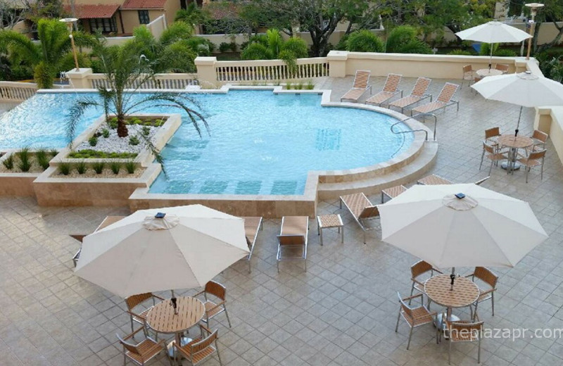 Outdoor pool at The Plaza Suites.