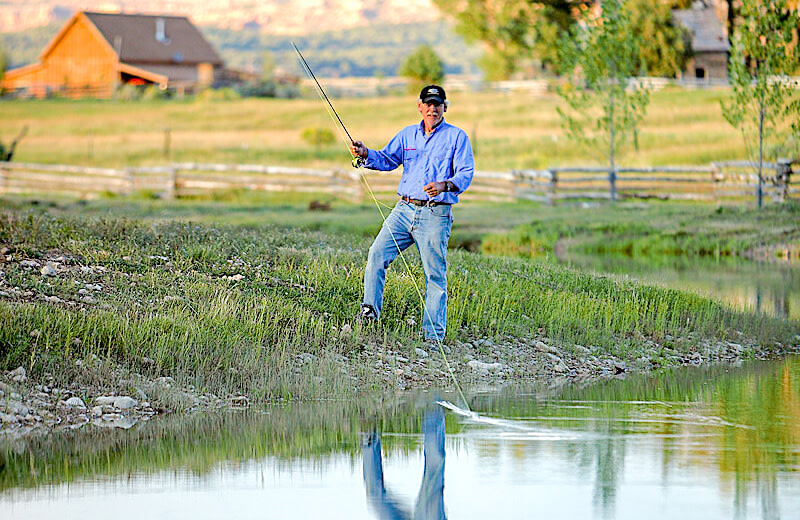 Fishing at Cottonwood Meadow Lodge.
