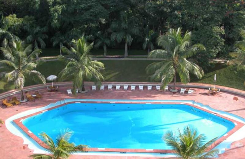 Outdoor pool at Krishna Oberoi.