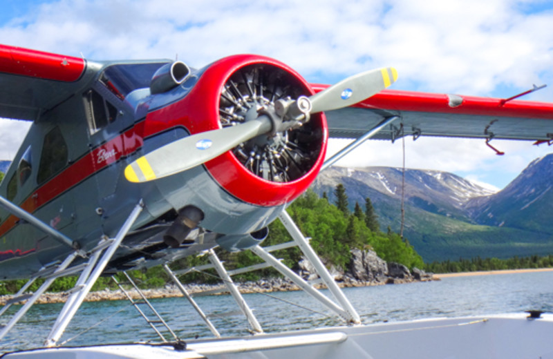 Float plane at Angry Eagle Lodge