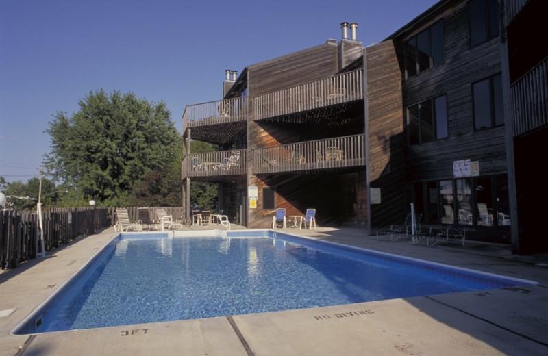 Outdoor pool at West Oaks Resort & Condominiums.