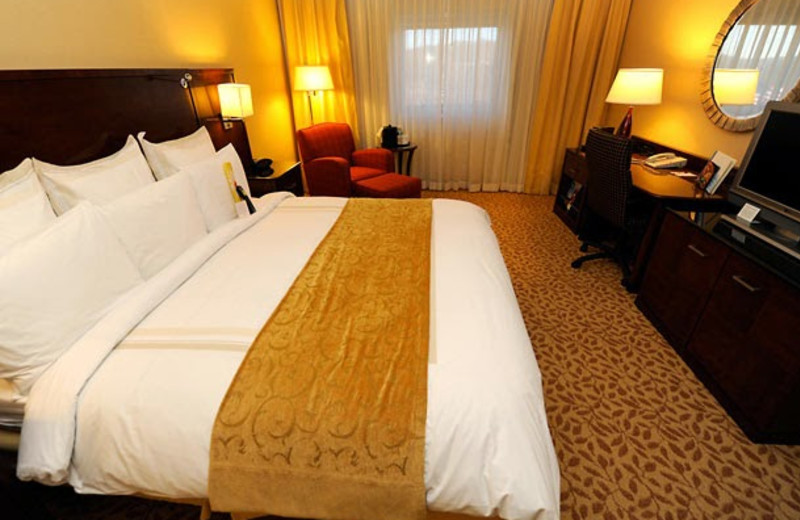 Guest room at Melville Marriott Long Island.